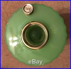 Collector Quality! Aladdin Green Moonstone Majestic Kerosene Mantle Lamp