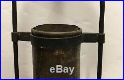 Commercial Aladdin #6 Kerosene Oil Lamp Hanging Frame Smoke shade 4 1/4 fitter