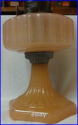 Corinthian Pink Moonstone Oil Lamp Aladdin Mantle Lamp Company