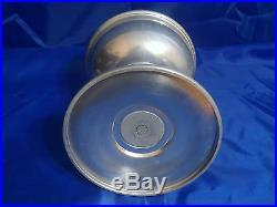 Early ALADDIN Brushed Aluminum Metal Kerosene Table Oil Lamp with Model C Burner