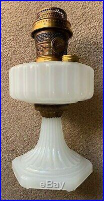 Excellent! Collector Quality! Aladdin White Moonstone Corinthian Glass Lamp