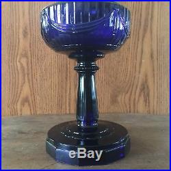 Excellent Original Aladdin Cobalt Tall Lincoln Drape Lamp Scallop Foot