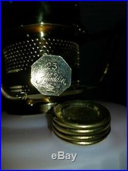 Fenton Limited HP Aladdin Lincoln Drape Kerosene Lamp Knights of Mystic Light