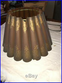 Fluted Shade for Aladdin Kerosene Table Lamp Old, Hard To Find