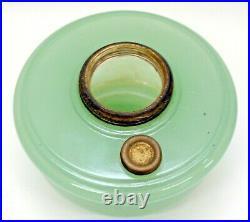 GREEN MOONSTONE ALADDIN OIL KEROSENE LAMP BRACKET HANGING FONT With CHIMNEY