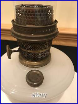 Genie Mantle Aladdin Lamp Co. B Nu-Type White Moonstone Oil Shelf Bracket Lamp
