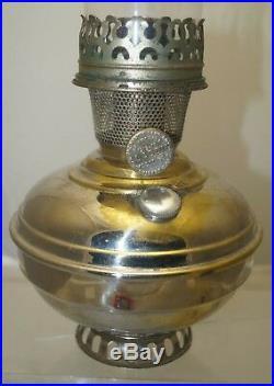 HTF Antique 1915 -16 Aladdin #6 & 1914 Oil FOUNT #102 Lamp WithORIG Flame Spreader