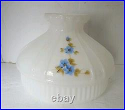 Hand Painted Aladdin Glass Oil Kerosene Replacement Lamp Shade 9.75 Fitter