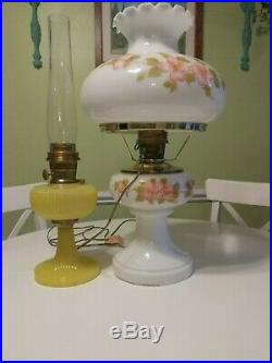 Huge! Aladdin Majestic Peach Blossom DE231-412 Lamp Hand blown/painted 1990's
