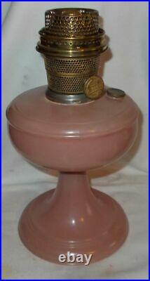 Kerosene Aladdin Pink Rose Venetian Lamp with B Burner