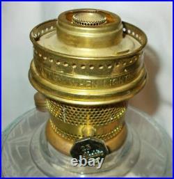 Kerosene Oil Aladdin Lamp Lincoln Drape filigree stem