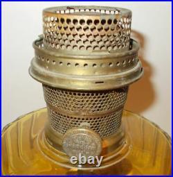 Kerosene Oil Aladdin Table Lamp Corinthian Original Yellow Gold