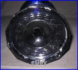 Kerosene Oil Aladdin Tall Cobalt Blue Lincoln Drape Lamp Model B Burner