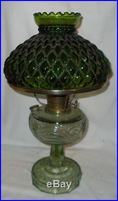 Kerosene Oil Original Aladdin Lamp Washington Drape Green