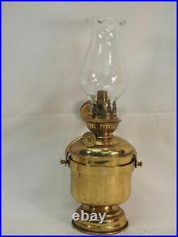 Kosmos Brenner Ship lamp brass Metal oil Lamp side mount swing heavy bottom weig