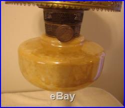 Lamp Aladdin B-27 Simplicity Gold Lustre Kerosene Very Ornate Workable Lamp