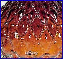 Lamp Shade Amber Glass 10 Student Diamond Quilted Kerosene