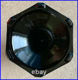 Look! Excellent! Aladdin Clear Crystal & Black Crystal B-104 Corinthian Base