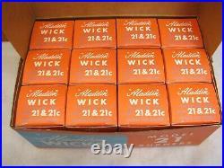 Lot 12 Vintage NOS Aladdin Model 21 Burner Lantern Mantle Wick Lamp Kerosene Box