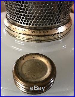 Lower Price! Quality Lamp! Original Finish! Aladdin White & Green Corinthian