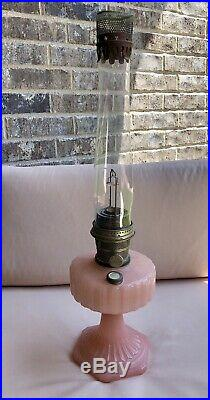 Mantel Lamp Co. Aladdin Lamp-rose Moonstone / Model B Kerosene Lamp