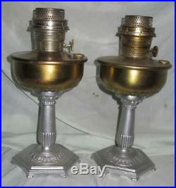 Matching Pair of Scarce Aladdin Model B Orientale Lamps, with Burners