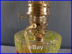 Mosser Glass Aladdin Lamps Limited Edition Vaseline Glass Lamp Electrified