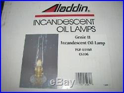 NIB Unopened Vintage Aladdin Genie II Incandescent Oil Lamp #61060 Free Shipping