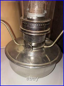 NOS Aladin 23 Chromed Kerosene Lamp Complete