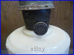 Near Perfect 1940 Alacite Aladdin Scallop Foot Oil Lamp With Chimney