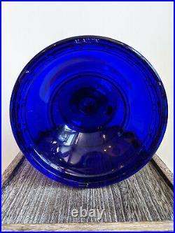 New Aladdin Cobalt Blue Alexandria Lamp with Nickel Burner Chimney Mantle