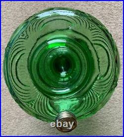 Nice! Aladdin Washington Drape Plain Stem Green Beta Crystal Lamp (b-54) 1941-42