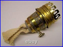 Nice Vintage Kerosene ALADDIN Model 23 Brass Parlor Lamp withRuby Flash Shade