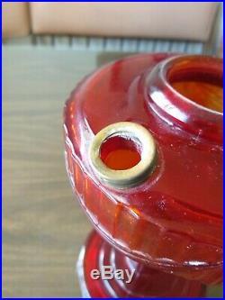 ORIGINAL 1941 Aladdin Ruby Red Lamp Tall Lincoln Drape Oil Lamp