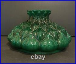 ORIGINAL Aladdin 206 Artichoke Green Cased Glass Oil Kerosene Lamp Shade