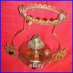 Oil Lamp Kerosene Aladdin Lamp Jeweled Font Country Store