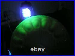 Old Aladdin Alacite Egg Plate, Aladdin Kerosene Lamp Co, Glows Under Blacklight