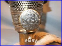 Old Aladdin Chicago oil Lamp Burner, chimney, Mantle Combination