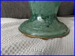 Old Variegated Art Deco Green Aladdin Oil Or Kerosene Vase Lamp Base Nice Look