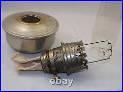 Old Vtg. Antique Aladdin Aluminum Fount Pot Kerosene Bracket Lamp w No 23 Burner