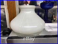 Original Aladdin 701B Lamp Shade Excellent Condition 10 Inch Glass White Hobnail