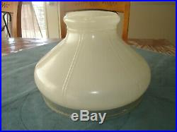 Original Aladdin 701B Painted White Lamp Shade with a Clear Hobnail Apron