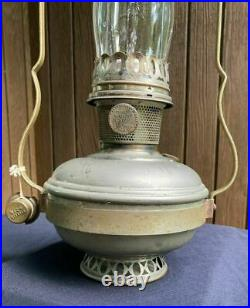 Original Aladdin Model #11 Kerosene Oil Hanging Lamp, No Shade