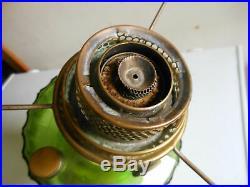 Original Green Aladdin Corinthian B 102 Kerosene Oil Lamp With Burner