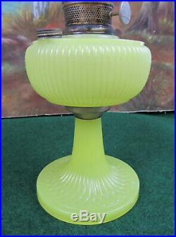 Original Vertique Yellow Moonstone Aladdin Oil Lamp