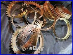 Ornate Brass Hanging Oil Kerosene Gas Lamp Shade Rings 15 Rings Aladdin