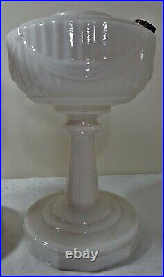 Pair of Aladdin Lincoln Drape Oil Lamps Different Bases