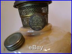 Pristine Vintage Aladdin Oil Kerosene Lamp Simplicity Model B Gold Luster