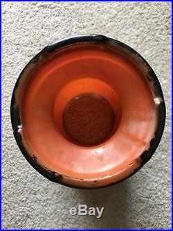RARE 12 Inch Aladdin Oil Orange Iridescent Venetian Art-Craft Vase Lamp #1246 LO