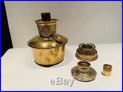 RARE 12 Inch Aladdin Orange Iridescent Venetian Art-Craft Vase Oil Lamp #1246 LO
